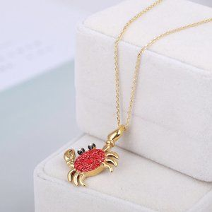 Kate Spade Cute Red Crab Necklace